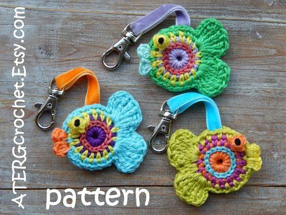 Crochet pattern FISH keyring by ATERGcrochet door ATERGcrochet