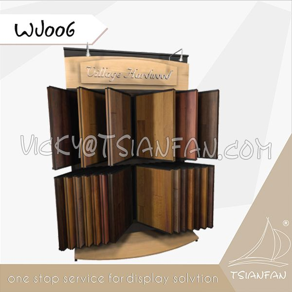 WJ006--New Products Wood Flooring Tile Display Stand Tile Wings Display