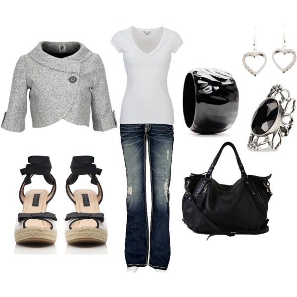 Jeans!: A Mini-Saia Jeans, Black N White, Gifts Cards, Style, Outfit, Black White, Jackets, White Stuff, Coats