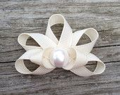 Seashell Ribbon Sculpture Hair Clip - Toddler Hair Clips - Girls Hair Accessories... Free Shipping Promo