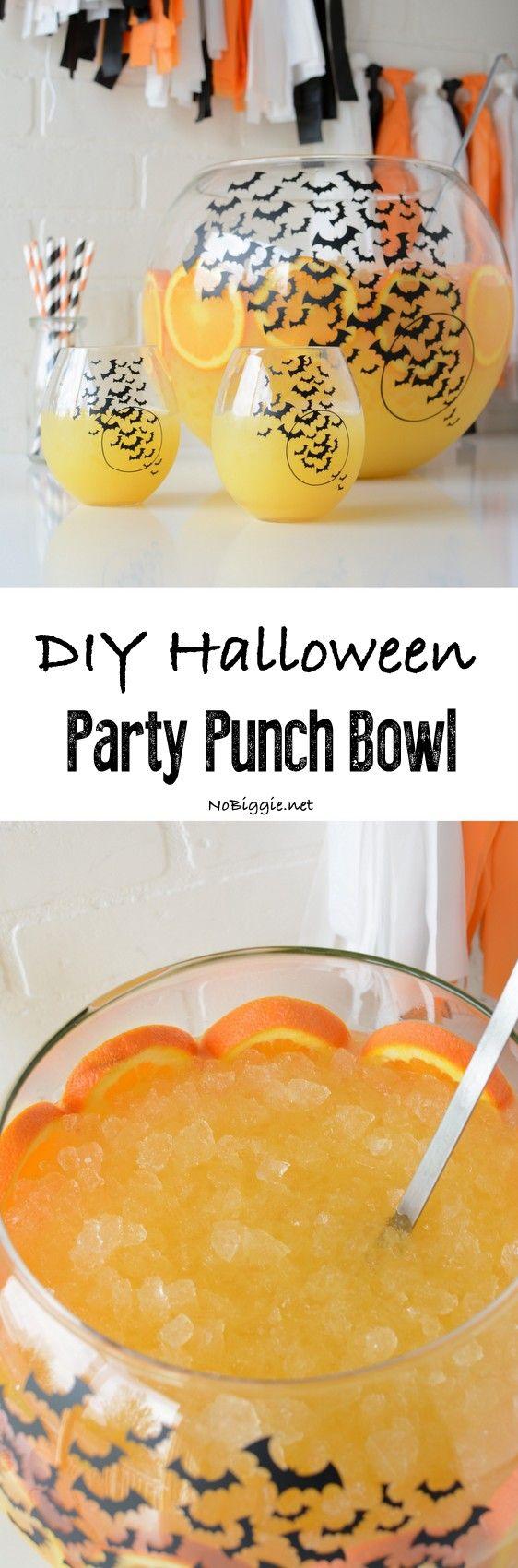DIY Halloween Party Punch Bowl | NoBiggie.net