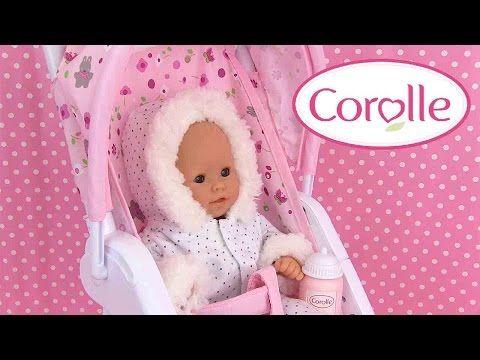 (137) Corolle Mon Premier Poussette Poupon Baby Doll Stroller Vêtements Accessoires - YouTube