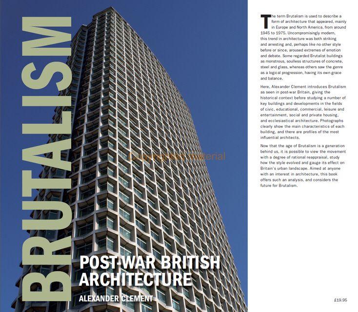 Viewing Inside 'Brutalism - Post-War British Architecture'  #architecture #brutalism Pinned by www.modlar.com