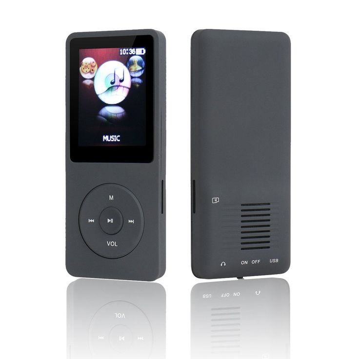 2016 New Original M280 Big and Clear Speaker MP3 MP4 Music Player with 8GB 1.8 Inch Screen /FM/e-book/Voice recorder/50 HOURS Continuous Playback(Black)