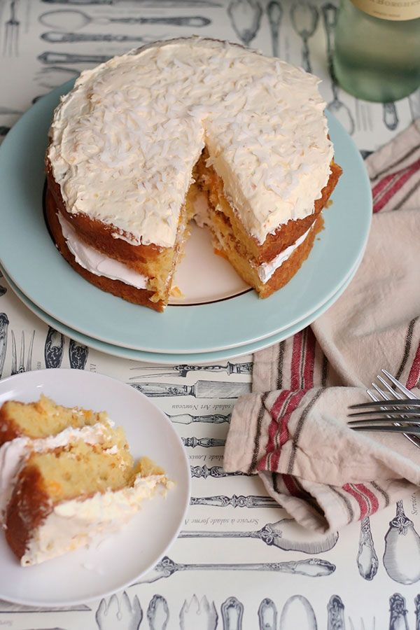 Frock Files | Orange & Pineapple Cloud Cake - Cool, creamy, and only two steps! Perfect for last minute parties.