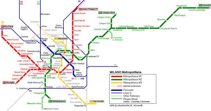 #Milan metro map