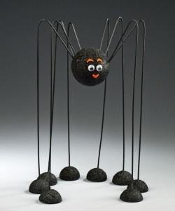 wire coat hanger and craft foam balls too cute