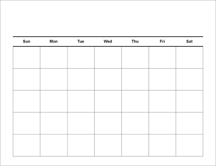 blank calendar printable - Yahoo Search Results