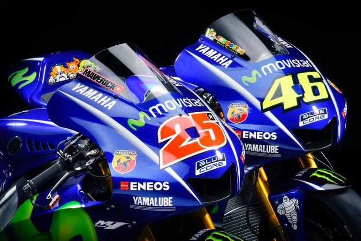 Yamaha presenta le nuove M1 per il campionato del mondo di MotoGP 2017