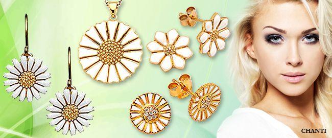 http://www.chanti.dk/p-Oereringe-Former___motiver-Marguerit  #earrings #øreringe #goldearrings #guldøreringe #chanti #smykker #jewellery #jewelry #chantijewellery #chantijewelry #marguerit #margueritsmykker #daisy