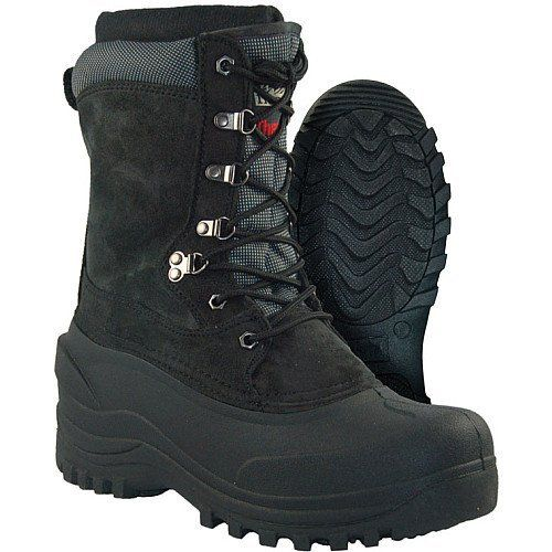 Itasca Tundra Black Winter Boot  The Itasca Tundra cold weather boot utilizes a Perma-Seal(tm) waterproof construction and a waterproof rubber bottom to keep you dry. 200-g of Thermolite insulation and a removable foam liner provide warmth and comfort.