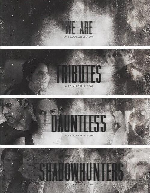 And let's not forget we are wizards and demigods as well. FANDOMS UNITE!