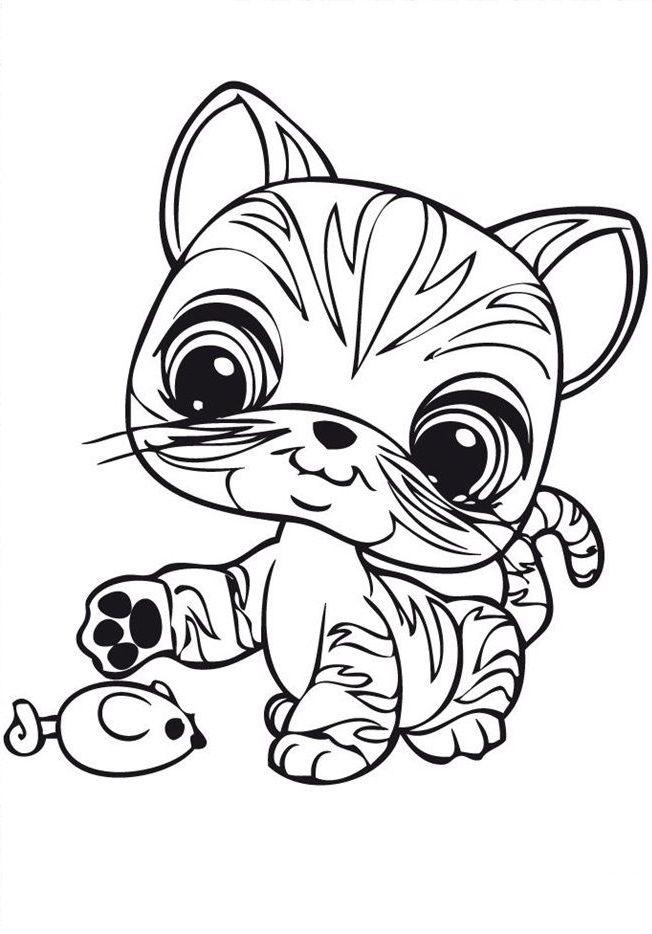 Littlest Pet Shop Coloring Pages Best Coloring Pages For Kids Cat Coloring Page Little Pet Shop Mandala Coloring Pages