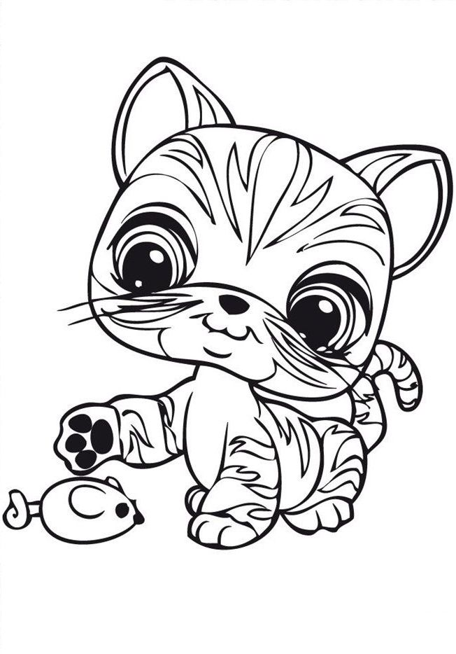 Littlest Pet Shop Coloring Pages Cat Coloring Page Little Pet
