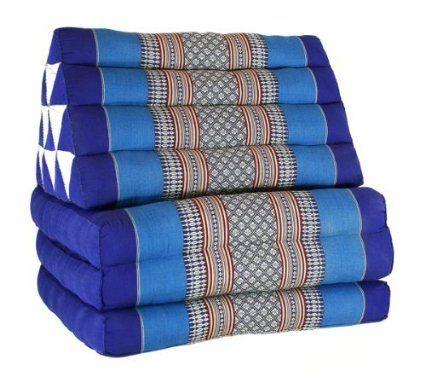 coussin thai pouf triangulaire capoc coton avec assise 3 plis early beach thai 07. Black Bedroom Furniture Sets. Home Design Ideas