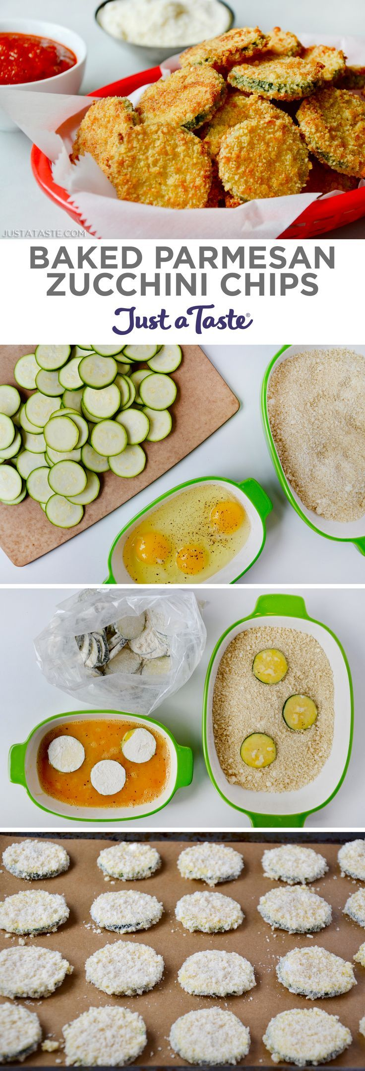 Baked Parmesan Zucchini Chips recipe from justataste.com #recipe #healthyrecipes #healthyeating #zucchini