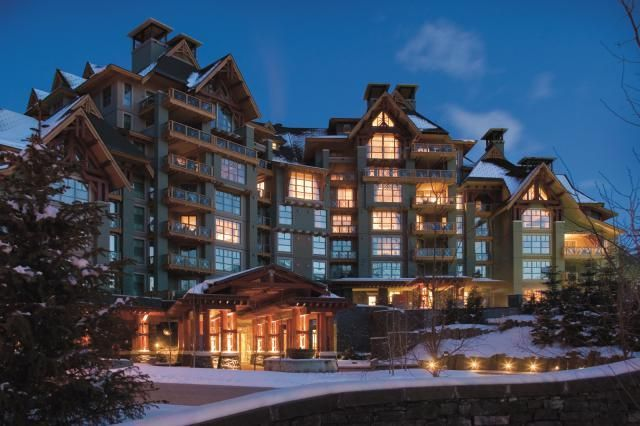 Ski resorts for winter vacation romance in the USA and Canada.: Four Seasons Resort Whistler in Winter