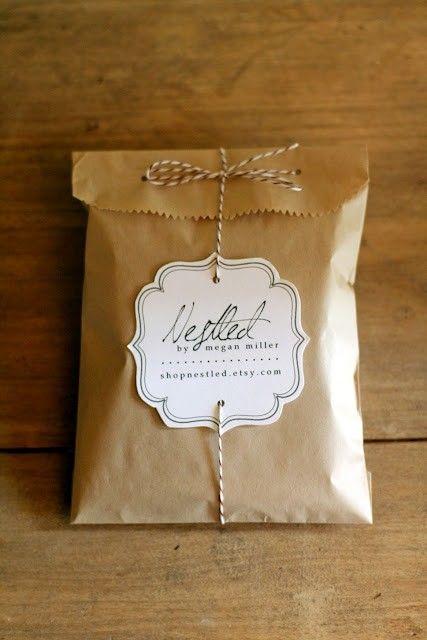 brown bag packaging...so neat but simple.