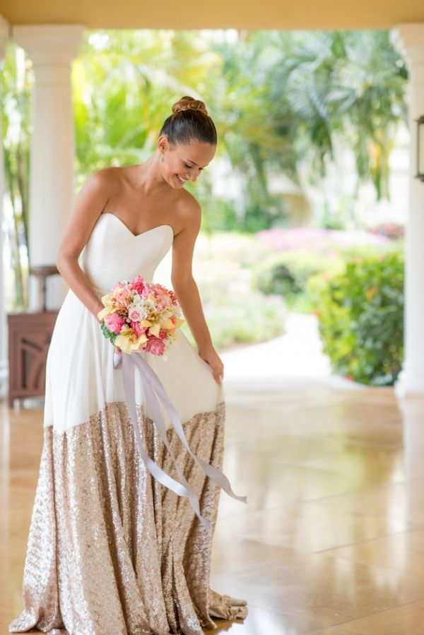 The 25+ best Non white wedding dresses ideas on Pinterest | Pink ...