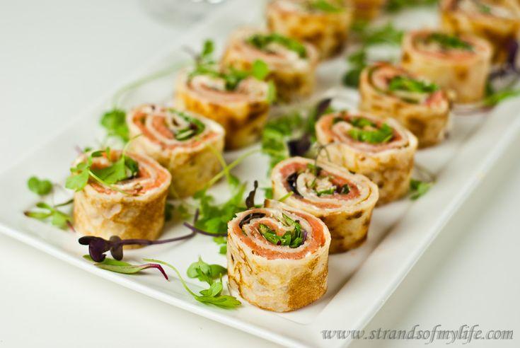 Salmon, Cream Cheese Pancake Rolls - gluten-free & Low FODMAP -