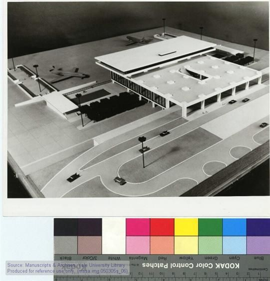 Athens International Airport, Athens, Greece: Model. Circa 1960. The Manuscripts and Archives Digital Images Database (MADID)