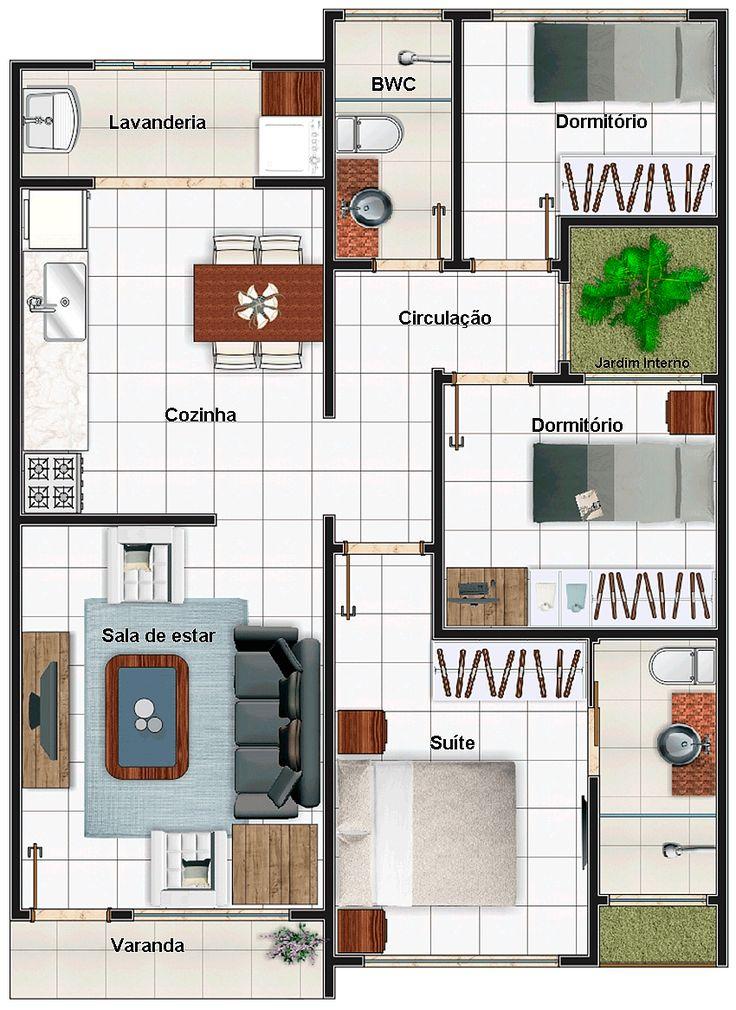 Planta baixa para Minha Casa Minha Vida 7