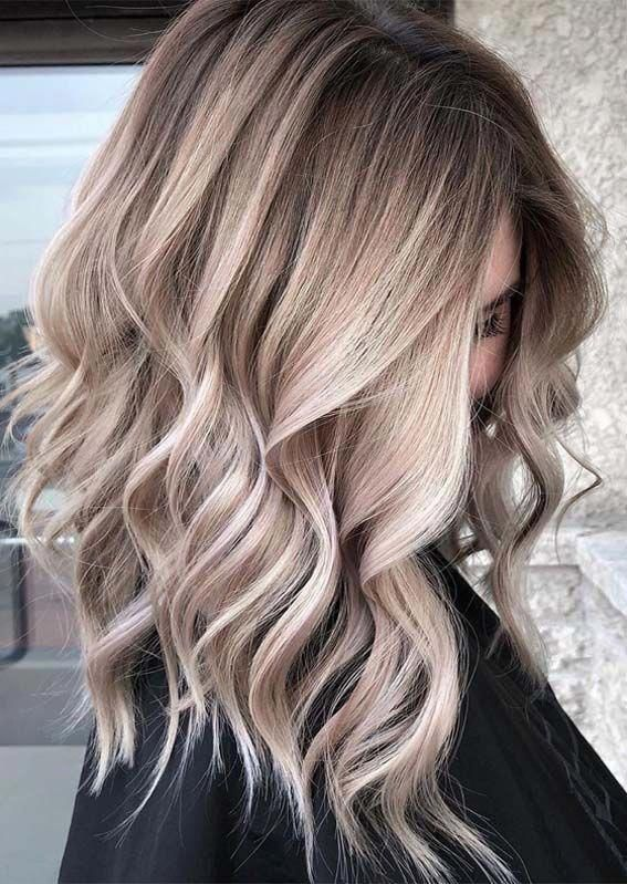 Beautiful Blonde Balayage Hair Color Trends for Ladies in 2019 #balayagehairblon…