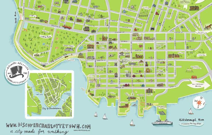 Look at our new Charlottetown walking map by Lori Joy Smith. Look for it on your next visit!
