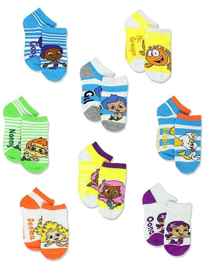 2T-4T Disney Princess Jasmine Toddler Girl 6-pack Low-Cut Socks