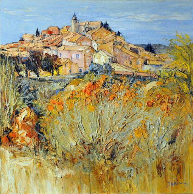 jean paul surin-約翰·保羅·蘇林-略帶抽像的法國具象藝術 , 景觀風景畫家 , 風格鮮明 , 囤積厚重的色彩充滿活力。。。 - ☆平平.淡淡.也是真☆  - ☆☆milk 平平。淡淡。也是真 ☆☆