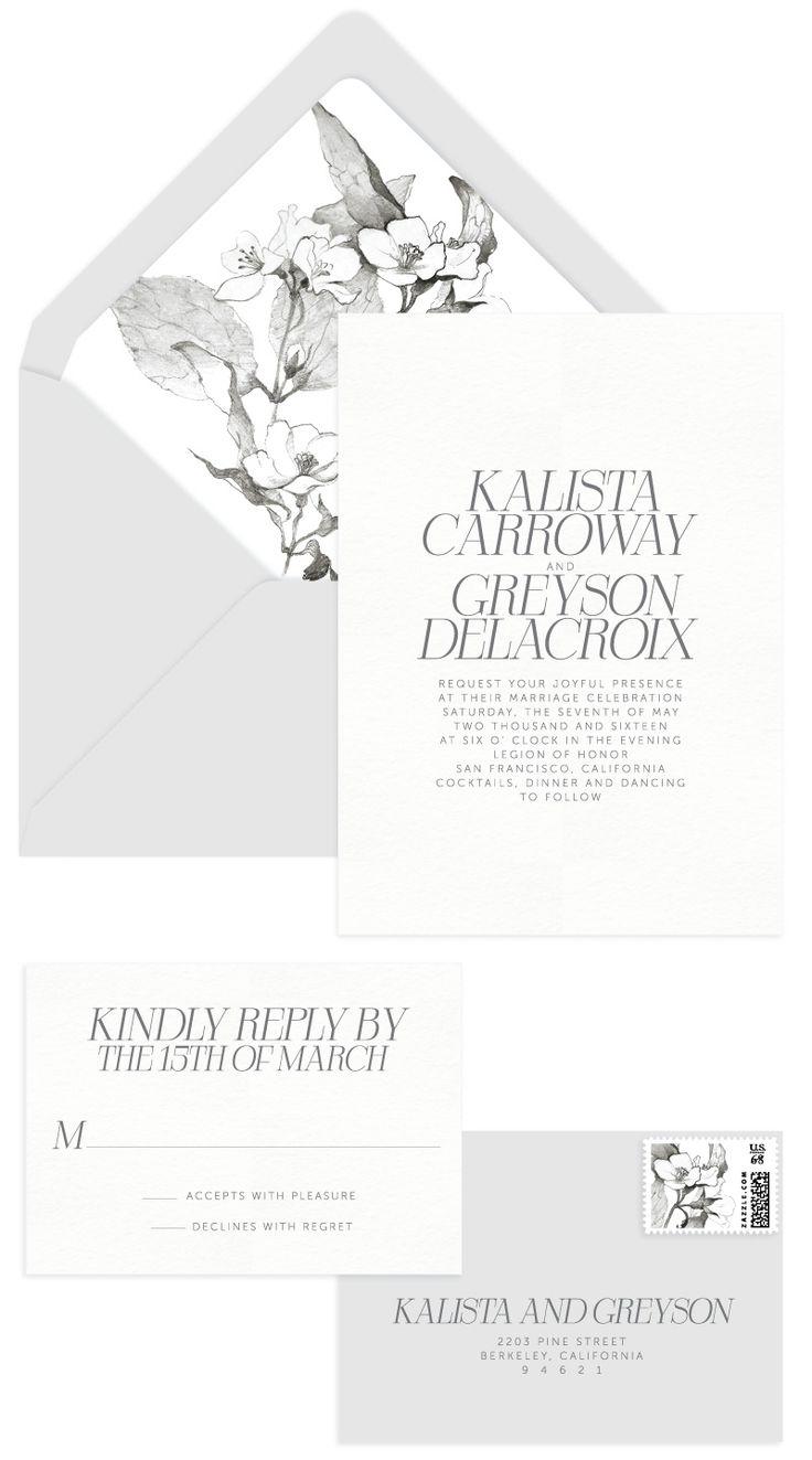 Kalista Letterpress Wedding Invitation