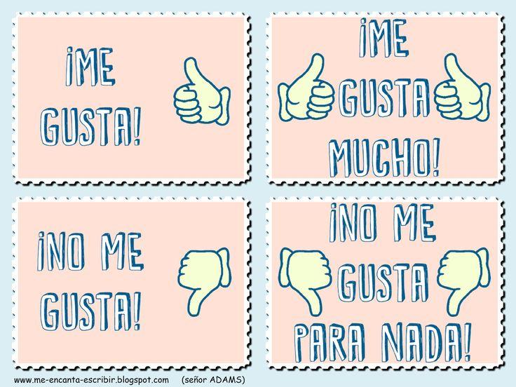 Me encanta escribir en español: ¿Te gusta? (Est-ce que tu aimes/aimes bien ?)