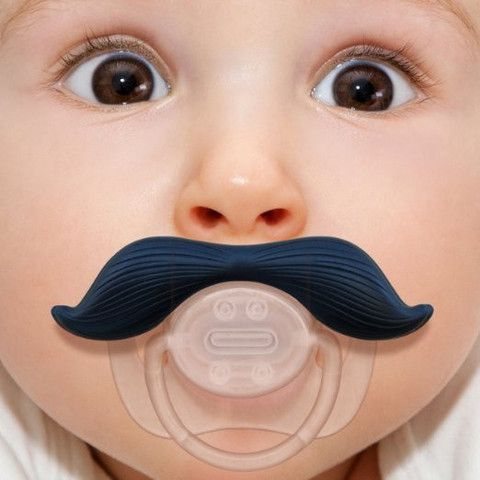 Man Baby Mustache Stachifier Pacifier for  0-6 month old Man-Babies