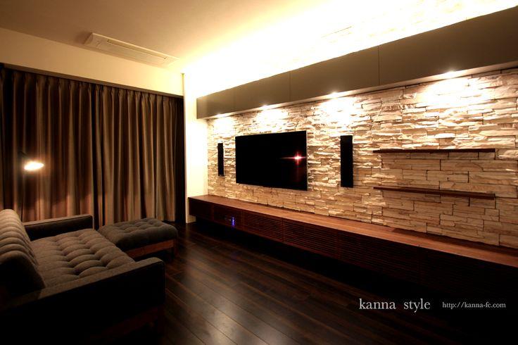 東京港区 オーダーテレビボードとソファー | kanna