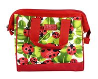 Sachi Insulated Lunch Bag With Carry Strap - Ladybug - Style 34
