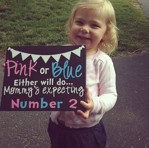 New Baby Sibling  Pregnancy Announcement Sign by GiftsForIt