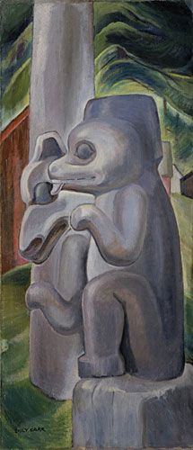 Masset Bears by Emily Carr, 1941. Oil on canvas | Vancouver Art Gallery