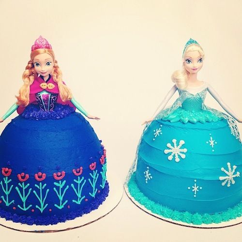 Find Out How to Make These 'Frozen' Themed Cakes! #Frozen #Elsa #Anna
