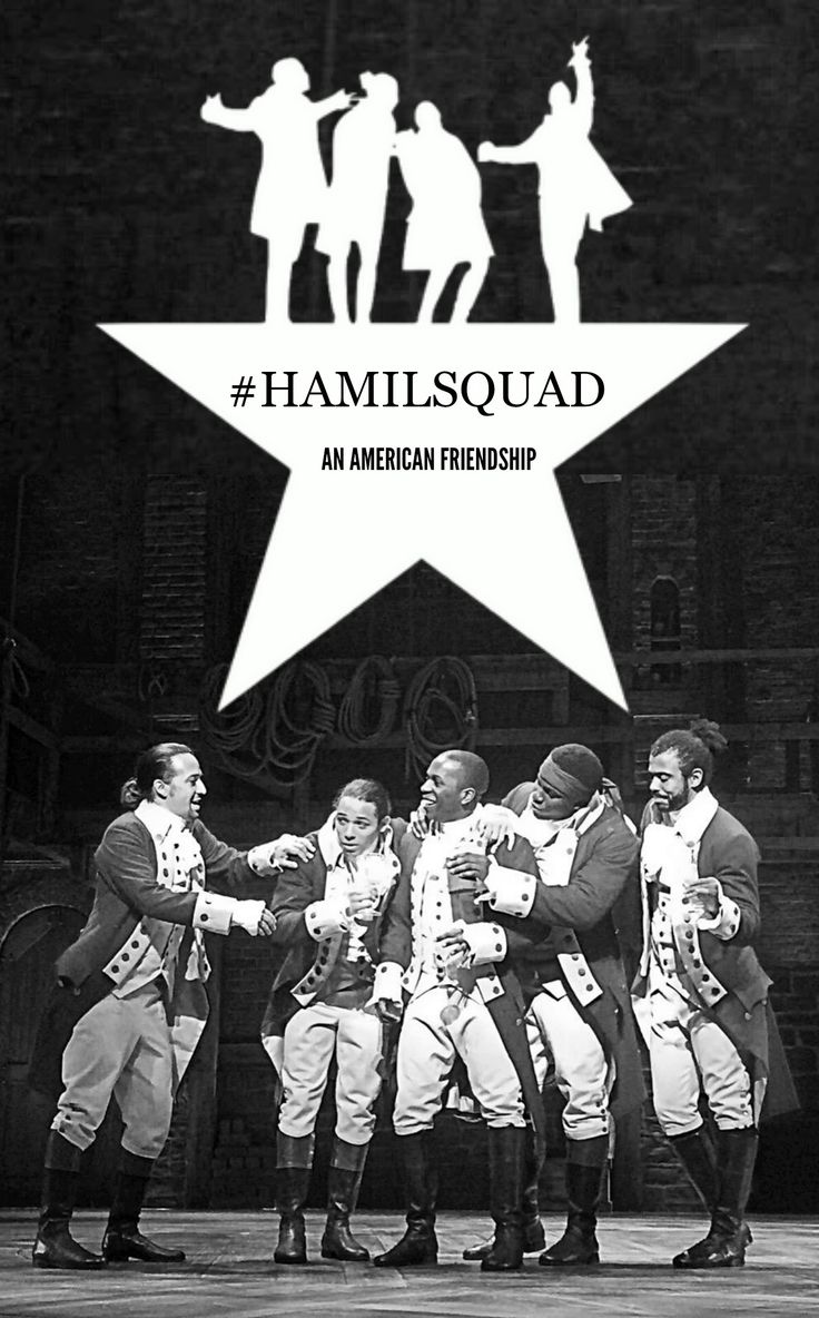 Just something I made for Hamilton fans out there. I added Burr even though I wasn't sure if he was part of the squad.. but I like Burr. Anyway, I hope you like this! #Hamilton #Hanilsquad