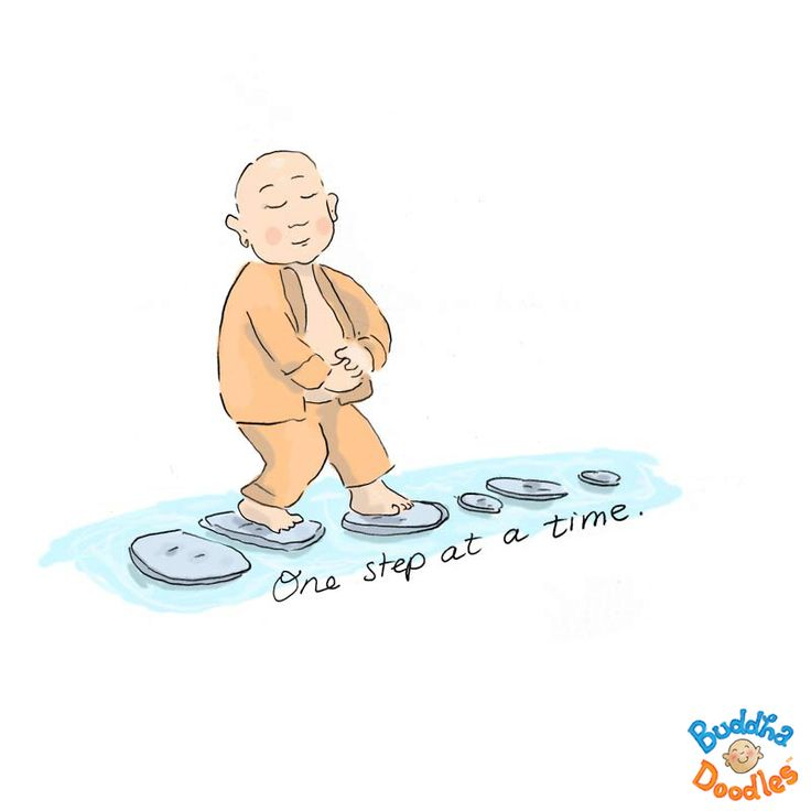 *Today's Buddha Doodle* - What challenges are you facing now? one step at a time