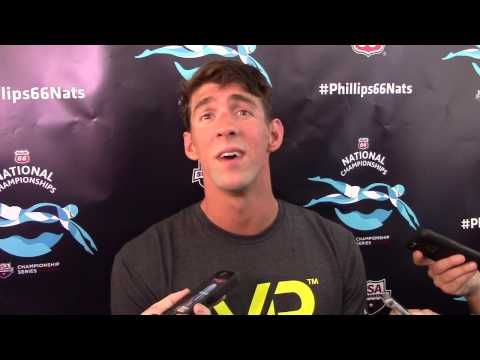 Michael Phelps, North Baltimore (after 100 fly final at U.S. Nationals)