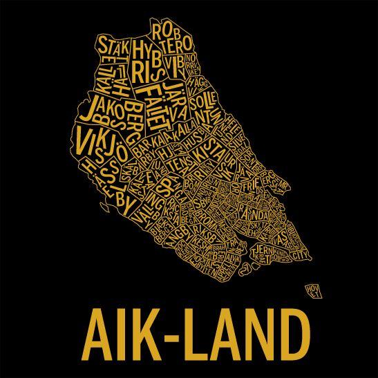 AIK-land i färgen guld
