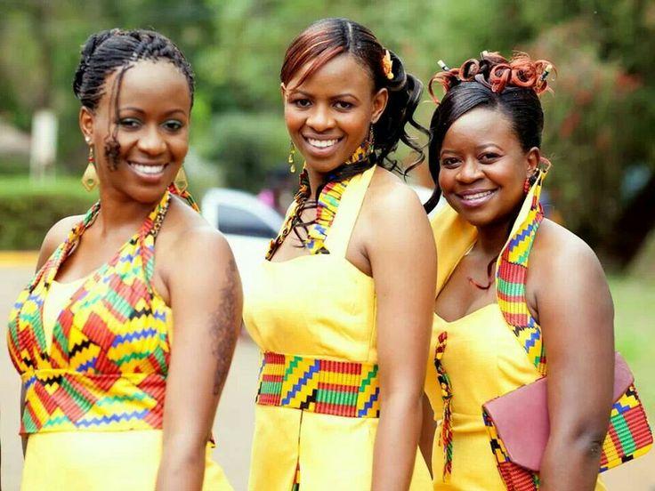 Bridesmaids In A Wedding In Kenya