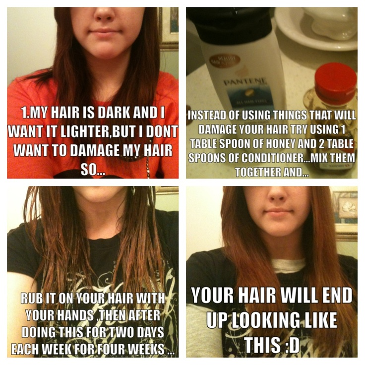 Directions on how to make your hair lighter :)