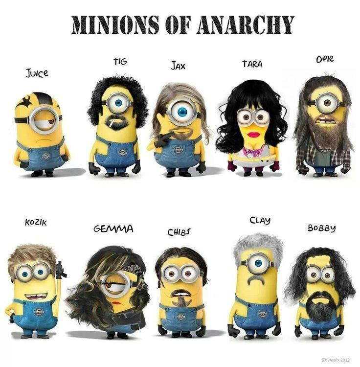 Minions of AnarchyLaugh, Random, Sons Of Anarchy, Movie, Funny Stuff, Soa Minions, Humor, Things, Funnystuff