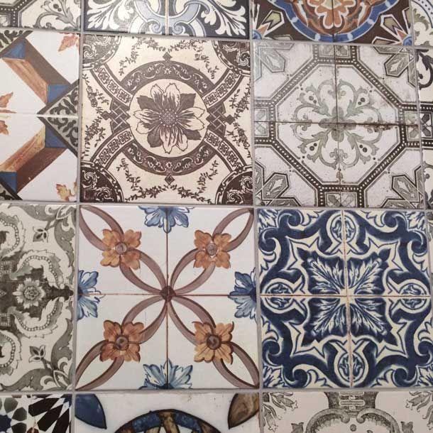 20x20cm Nikea Mix Pattern Tile Set Porcelain Tile