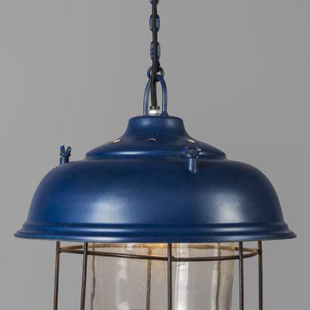 Lampa wisząca Poseidon niebieska