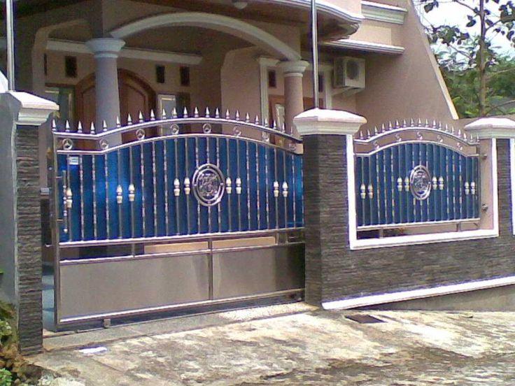 60+ model desain pintu pagar rumah minimalis terbaru (kayu ...