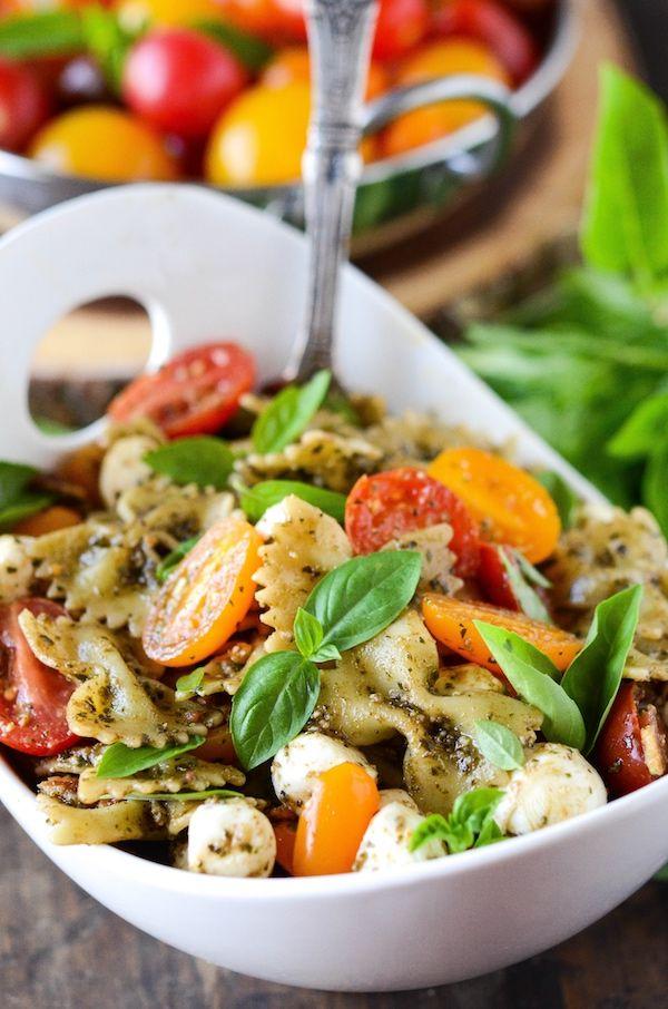 bacon pasta salad bacon pasta salads basil pesto sauce chef blog salad ...