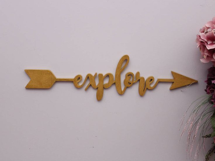Add this beautiful explore arrow wood sign in your childs room, boho nursery, office or to any travel themed related decor. A perfect gift for those who loves to travel and explore all the adventures. Use these wooden arrow sign accent to decorate a feature wall and complement your room decor. The arrow word sign is laser cut and then hand painted with your choice of colors.  Please see the last image for paint colour options.  For more arrow letters, please visit: https://www.etsy....